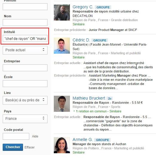 recherche de prospects sur linkedin